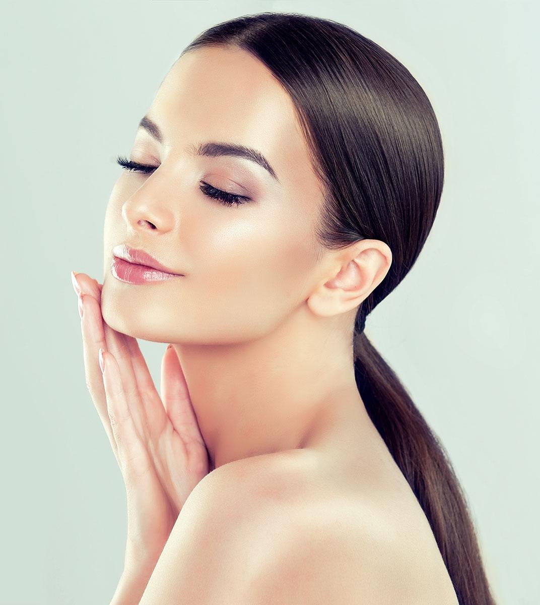 Gesichtsbehandlung Schönheitschirurgie Alterungsprozess aufhalten